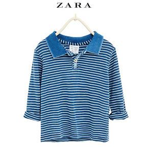 ZARA 童装 靛蓝色马球衫 29元包邮