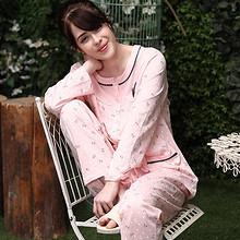 春夏秋可穿# 女式宽松家居服纯棉套装 49元包邮(59-10券)