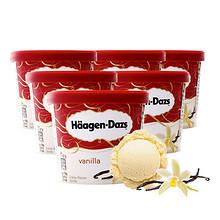 哈根达斯 冰淇淋组合 香草味 87g*6杯 99元包邮