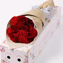 鲜花速递# 礼之尚 玫瑰花束礼盒 11支 19.9元包邮(39.9-20券)