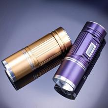 速拓 夜钓灯紫光超亮可充电手电筒 30w 19.9元包邮(29.9-10券)