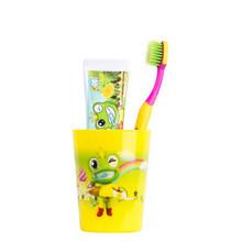 青蛙王子 护龈防蛀儿童早晚牙膏牙刷牙杯套装 19.9元包邮(29.9-10券)
