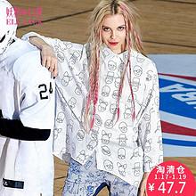 妖精的口袋 P伦敦画家 女士休闲长袖棉质印花衬衫 47.7元包邮