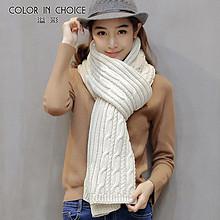 溢彩 韩国毛线围巾 15元包邮(45-30券)