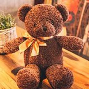 时尚可爱卷毛泰迪熊玩具 35cm 券后9.9元包邮