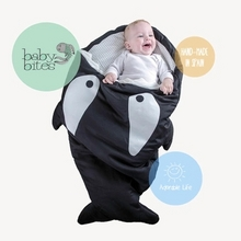 贝多喜 婴儿卡通鲨鱼睡袋100cm 59元包邮(139-80券)
