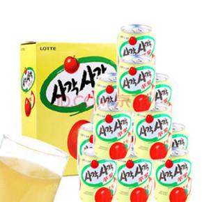 Lotte 乐天 苹果汁 238ml*12瓶*2件 98元(66*3-100券)