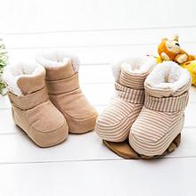贝昔 婴儿彩棉保暖棉靴2双 27.6元包邮(37.6-10券)
