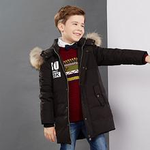 鸭鸭 韩版中长款儿童羽绒服 299元包邮(399-100券)
