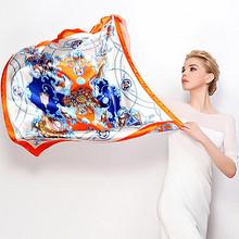 上海故事 素绉缎油画围巾披肩 14.9元包邮(19.9-5券)
