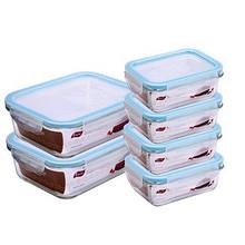 爱思得 耐热玻璃保鲜盒6件套+凑单 折51元(199-100)