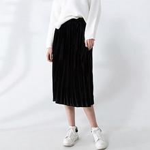 JONSROO 句索 丝绒百褶裙半身裙 69.9元包邮(89.9-20券)