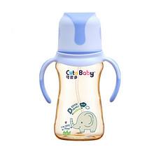 可爱多 婴儿宽口径带手柄奶瓶 260ml 29.9元包邮(59.9-30券)