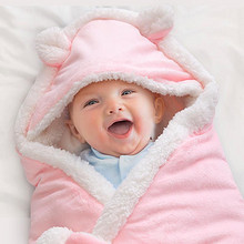 贝贝叶 婴儿秋冬羊羔绒加厚抱被 49元包邮(79-30券)