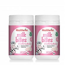 Healtheries 贺寿利 香浓奶片 草莓味 50片*2瓶 77.2元(68+9.2)