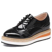 珂卡芙 英伦内增高厚底高跟单鞋 109元包邮(149-40券)