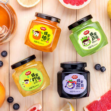 4口味组合# 福事多 柚子+柠檬+芦荟+蓝莓茶 240g*4瓶 32元包邮(37-5券)