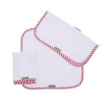 有机更健康# 爱可比 婴儿全棉口水巾 3条 9.9元包邮(19.9-10券)