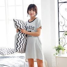 猫人 夏季女士纯棉短袖长款睡裙 49元包邮(79-30券)