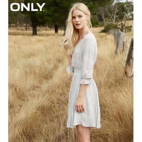 仙气十足# ONLY 女士荷叶边修身连衣裙 179.5元包邮