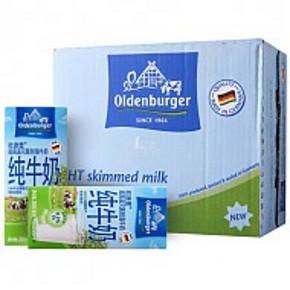 欧德堡 超高温灭菌脱脂牛奶 200ml*24盒 45元