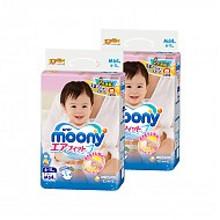 moony 尤妮佳 婴儿纸尿裤 M64片*2包 172.4元包邮(163+19.4-10券)