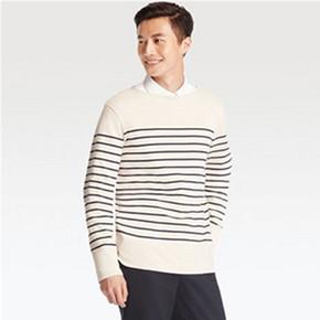 四色可选# UNIQLO 优衣库 男士水洗横条T恤 99元
