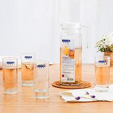 品质生活# 乐美雅 玻璃杯水具套装 1壶+4杯 26.9元包邮(29.9-3券)