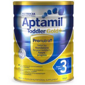 Aptamil 爱他美 金装 婴儿奶粉 3段 900g 122元(109+13)