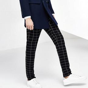时尚格纹# GXG 男士黑白格纹休闲裤 159元包邮