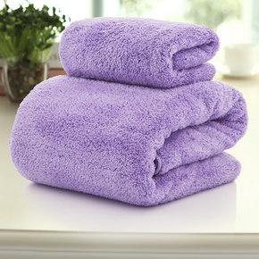 鑫泉 纯色加大加厚珊瑚绒浴巾+送毛巾2条 24.9元包邮(29.9-5券)