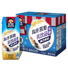 10点开抢# 桂格 高纤燕麦乳 黑芝麻味 250ml*6包 9.9元包邮