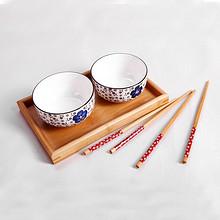 松发 韩式唯美高档瓷器碗筷 2套 12.9元包邮(22.9-10券)