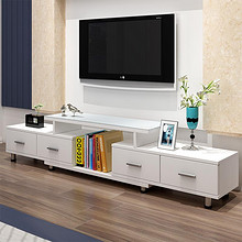家装好物# 悠佰 现代简约欧式钢化玻璃伸缩电视柜 299元包邮(488-189)