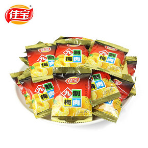 佳宝 九制梅肉 500g 23元包邮(29-3-3券)