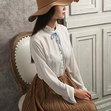 春季新款# 百武西 韩版长袖雪纺淑女衬衫 69元包邮(119-50券)