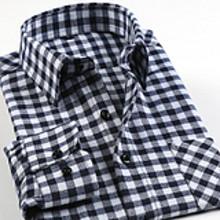 意宾 男士纯棉长袖格子衬衫 29.9元包邮
