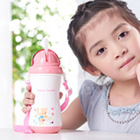 迪迪龙 儿童吸管饮水杯300ml 券后14.9元包邮