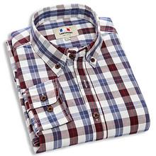 朗蒙 春季优质棉纱格子衬衫 39元包邮(59-20券)