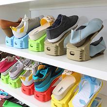 纳美嘉 加厚三档可调节双层简易塑料鞋柜 8只装 23.8元包邮(33.8-10券)