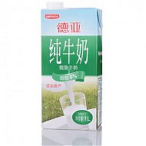 Weidendorf 德亚 德国进口脱脂牛奶 1L*15盒 73.5元(103.5-30)