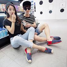 泰和源 男女英伦一脚蹬懒人布鞋 14.9元包邮(29.9-15券)