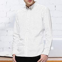朗蒙 韩版男士纯棉修身长袖休闲衬衫 39.9元包邮(79.9-40券)