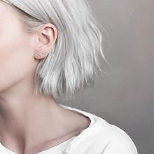 韩式耳饰# 925银T字形简约耳钉 9.9元包邮(19.9-10券)