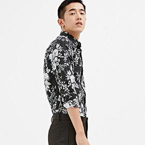 太平鸟 男装 时尚黑白 印花衬衣 159元