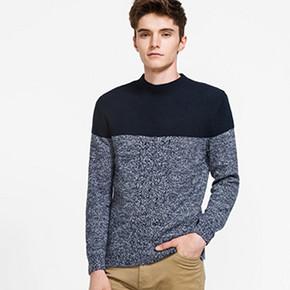 A21 男士 半高领 针织衫  119元