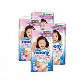 Moony 尤妮佳 女宝宝用拉拉裤 L44片*4包装 303元包邮