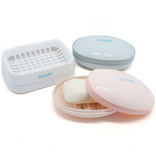 浴室白菜# 茶花 双层塑料肥皂盒 2个 6.9元包邮(9.9-3券)