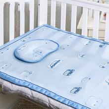 清凉一夏# AUSTTBABY 婴儿床冰丝凉席套件 29元包邮(69-40券)