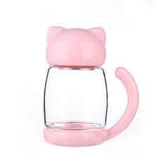 饮水萌物# 天使贝贝 创意猫咪玻璃杯 300ml 19.9元包邮(39.9-20券)